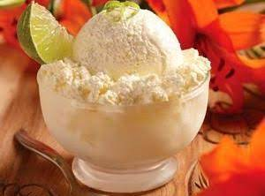 Pineapple-Lime Ice Cream