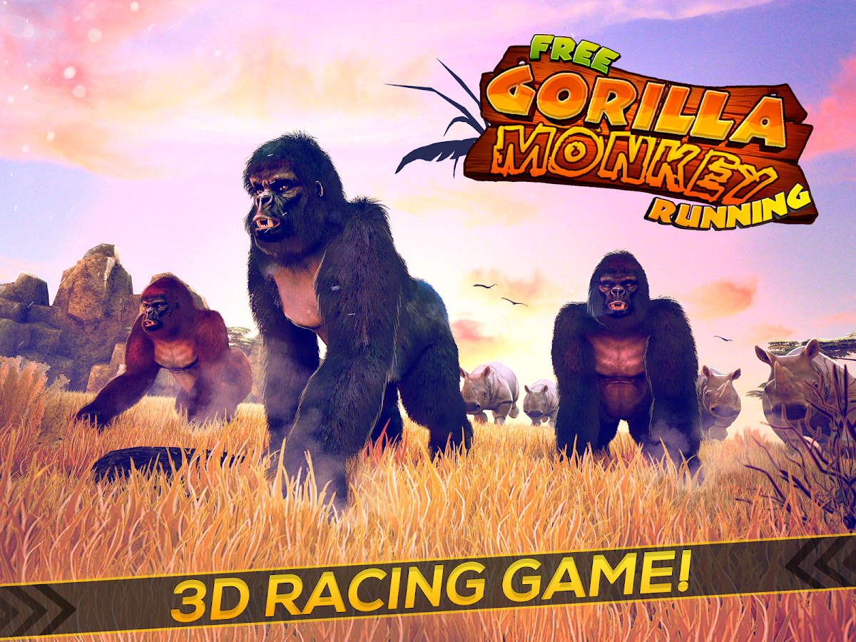 Wild Gorilla Monkey Run Game Apl Android Di Google Play
