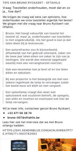 Tips van Bruno Ryckaert - Oftahils