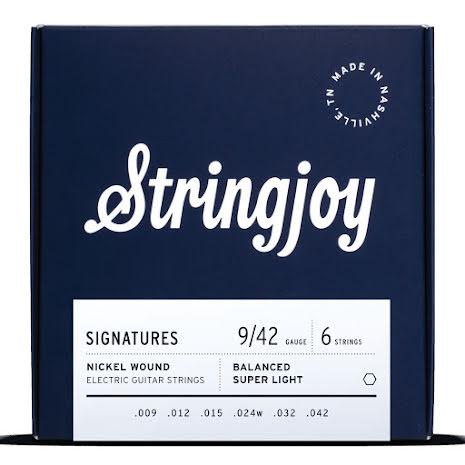 Stringjoy Balanced Super Light (9-42) Nickel Wound Electric Guitar Strings