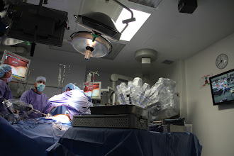 Photo: Surgical cameras utilized by Sarasota Memorial's da Vinci-S Surgical System provided live-streamed video of miniature surgical tools remote controlled by Sarasota Memorial General Surgeon John Nora, MD, as he worked to remove a cancerous lesion from a patient's stomach.