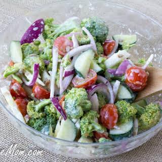Sugar-Free Mayo Free Broccoli Salad.