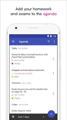 School Planner Android App Screenshot