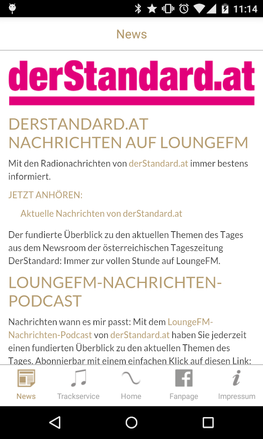 LoungeFM- screenshot