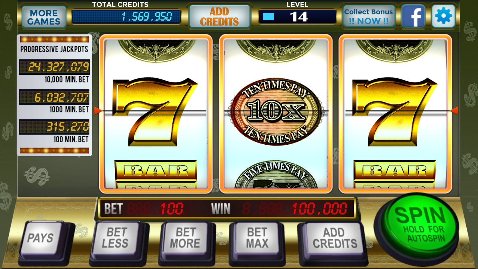 slot machine with best odds
