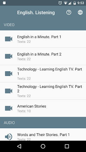 Screenshot for Learn English. Listening. Pro in Hong Kong Play Store