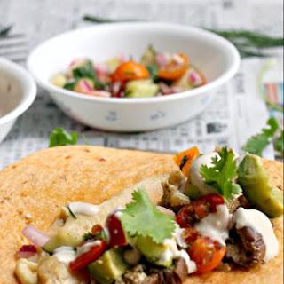 Ottolenghi's Chicken Shawarma with Vegan Ranch Dressing + Garlic Hummus (Paleo, Gluten Free, Dairy-Free)