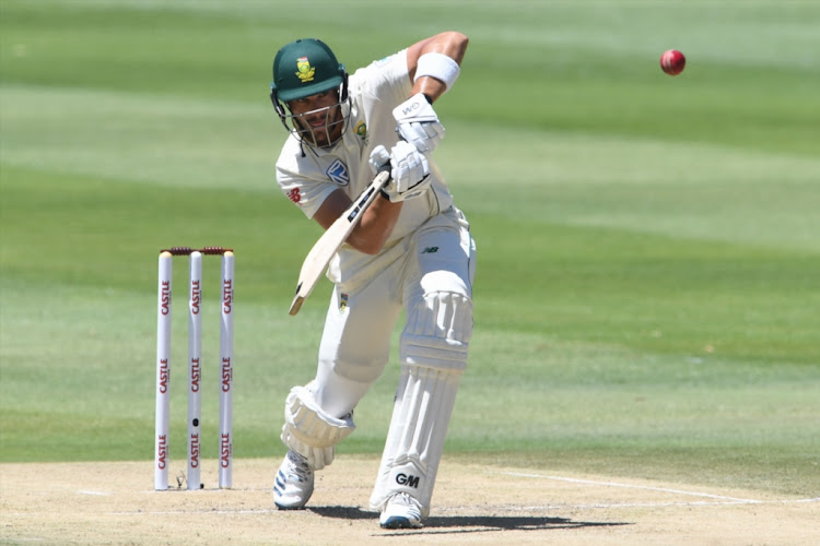 Aiden Markram of the Proteas during day one of the third Test match between South Africa and Pakistan at Wanderers on January 11 2018 in Johannesburg, South Africa.