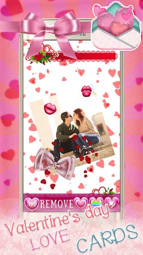 バレンタインデーの愛のカード