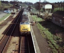 Photo: A down train arrives (1969)