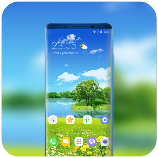 App Insights: Theme for beautiful grassland samsung note9