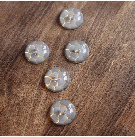 Krackelerad, 17mm - gråblå