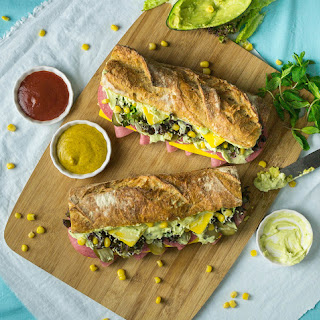 Avocado French Bread Sandwich.
