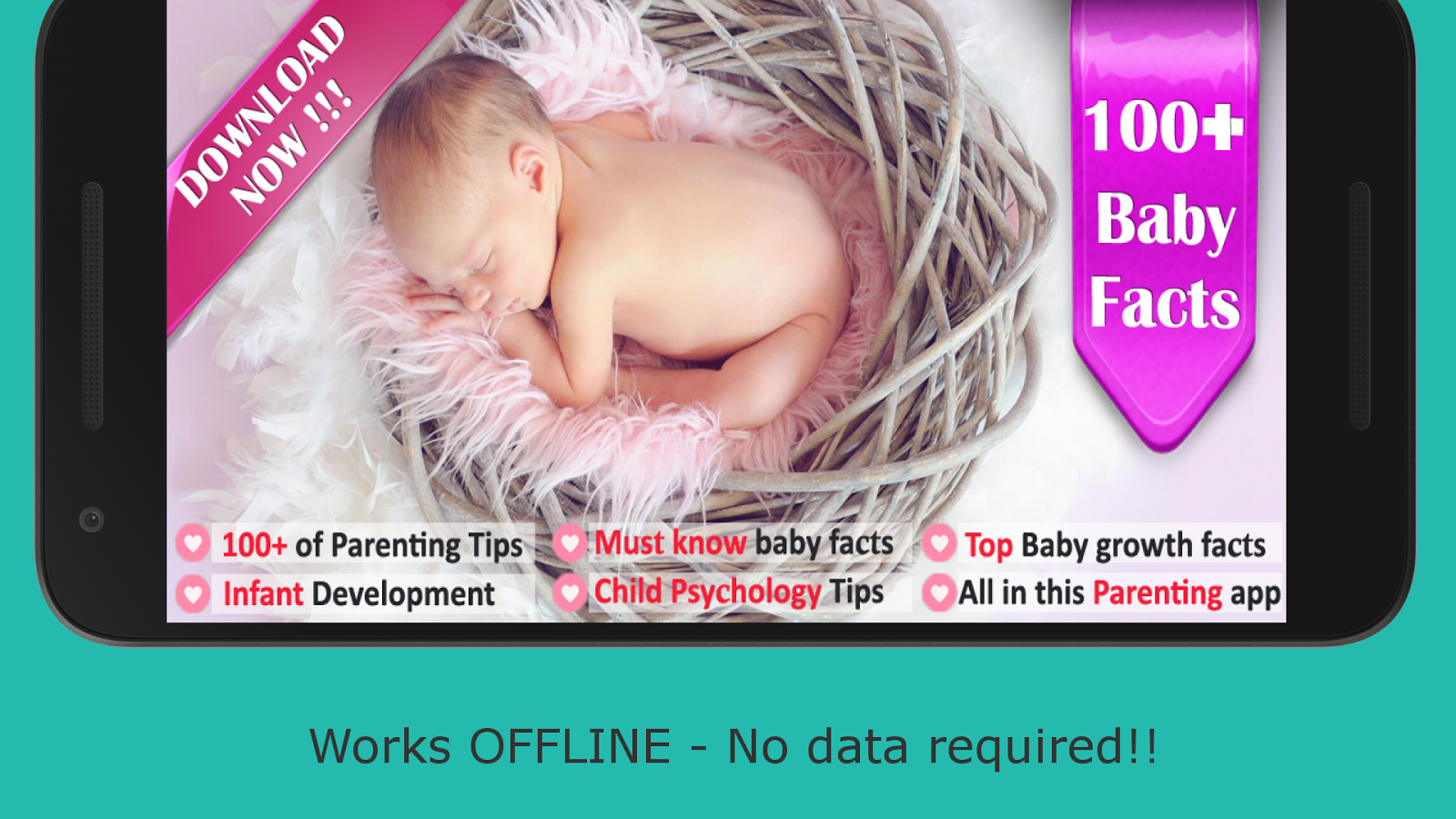 100 Baby Growth, Infant Care & Parenting Facts- screenshot