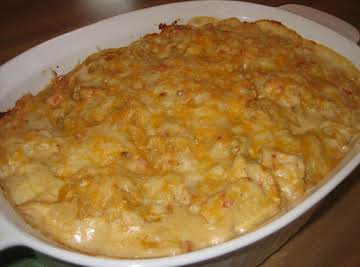 White Baked Spaghetti with Chicken