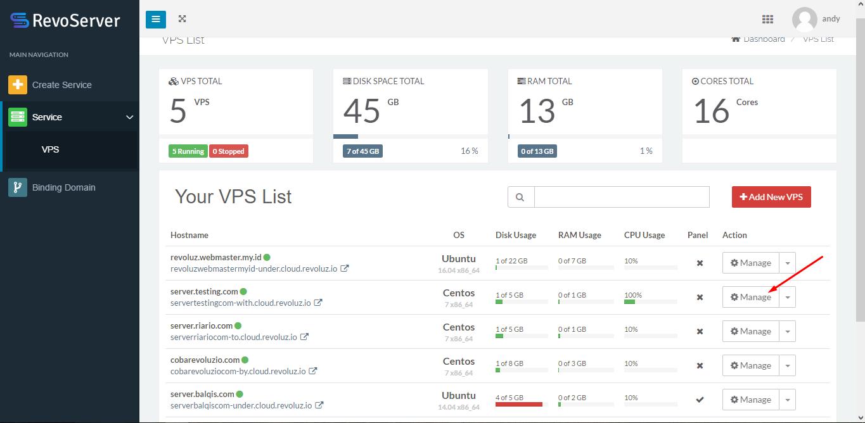 Monitoring Layanan VPS