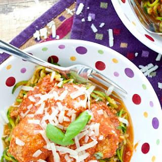 Homemade Meatballs and Marinara Sauce.