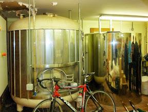 Photo: hot liquor tank (left) and cold liquor tank (right)