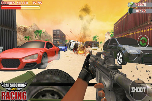Car Racing Sniper Vs Thieves - Shooting Race games 3 screenshots 2