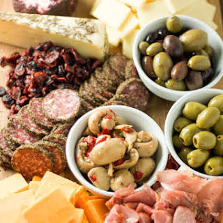 Simple Cheese and Salami Platter.