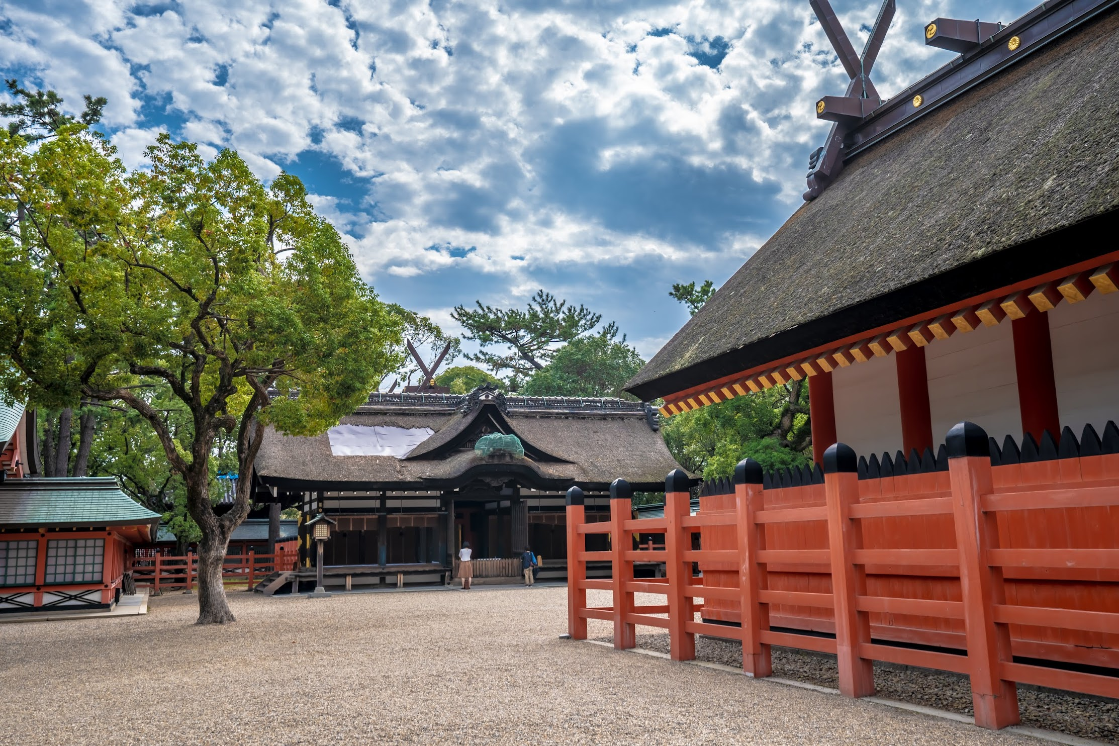 Sumiyoshi Taisha Shrine main sanctuary4