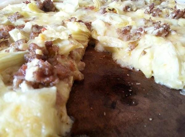 Creamed Garlic& Onion Artichoke Pizza Recipe