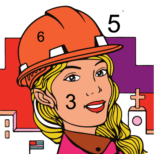 Paint By Number - Color By Number Free Icon