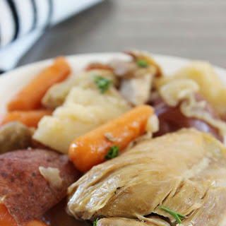 Crock Pot Chicken Thighs with Potatoes & Carrots.