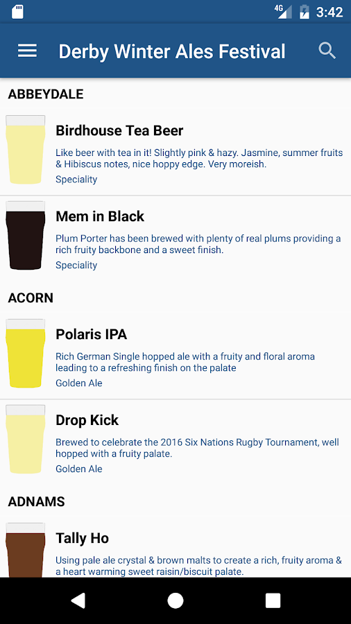 Derby Winter Ales Festival- screenshot