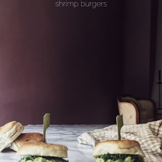 Shrimp Burgers With Avocado Mayo.