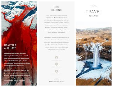 Land of Fire and Ice - Flyer template