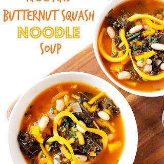 Kale and Butternut Squash Noodle Soup