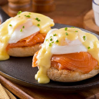 Red Lobster's Eggs Benedict with Smoked Salmon.