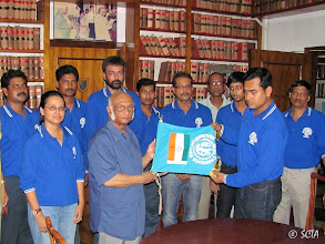 Photo: Flag handed over by Satyabrata Mukherjee at his residence