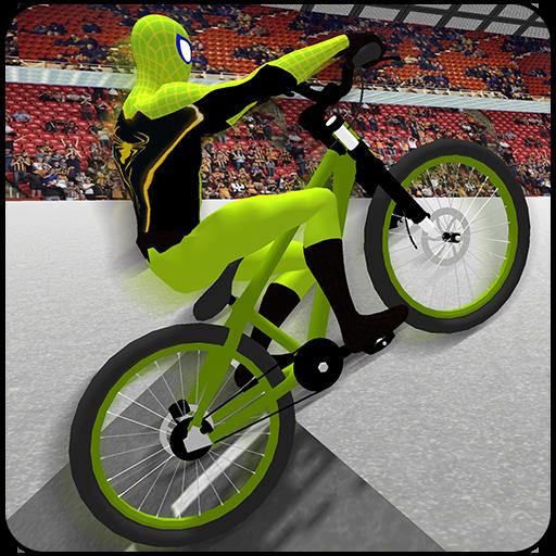 Superheroes BMX Cycle Stunts