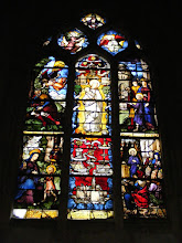 Photo: There is impressive stained glass in the church.