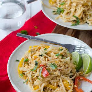 Easy Vegan Drunken Noodles.