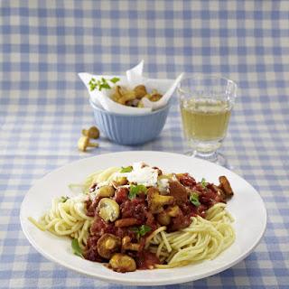 Hearty Bacon and Mushroom Spaghetti