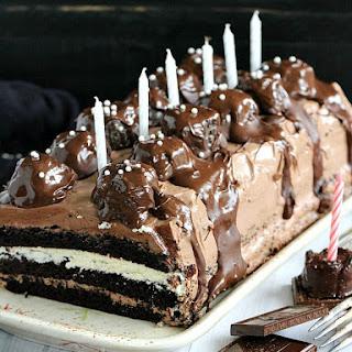 Dark and White Chocolate Truffle Cake.