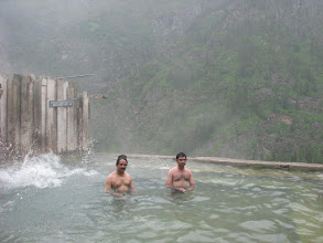 Photo: Refreshing hot water spring bath at Kheerganga - myself with Nikhil