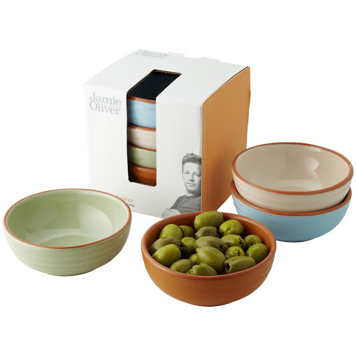 Personalised Set of Four Terracotta Bowls