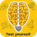 Brain test - psychological and iq test icon