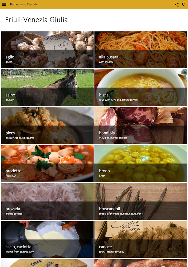 Italian Food Decoder- screenshot
