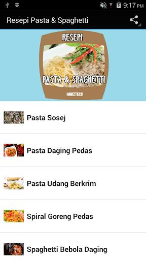 Resepi Pasta Spaghetti