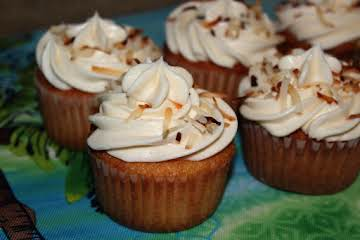 Toasted Coconut Filled Cupcakes