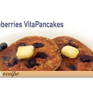 Low Calorie Blueberry Pancakes.