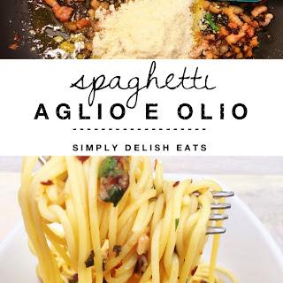 Spaghetti Aglio E Olio With Pancetta