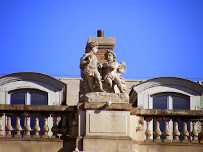 Photo: Some of the building's statuary.