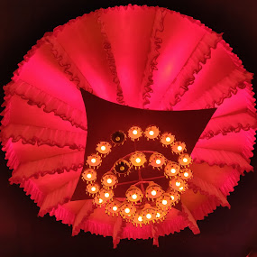 by Sandip Roy - Artistic Objects Antiques ( red, artistic objects, candles, lantern )