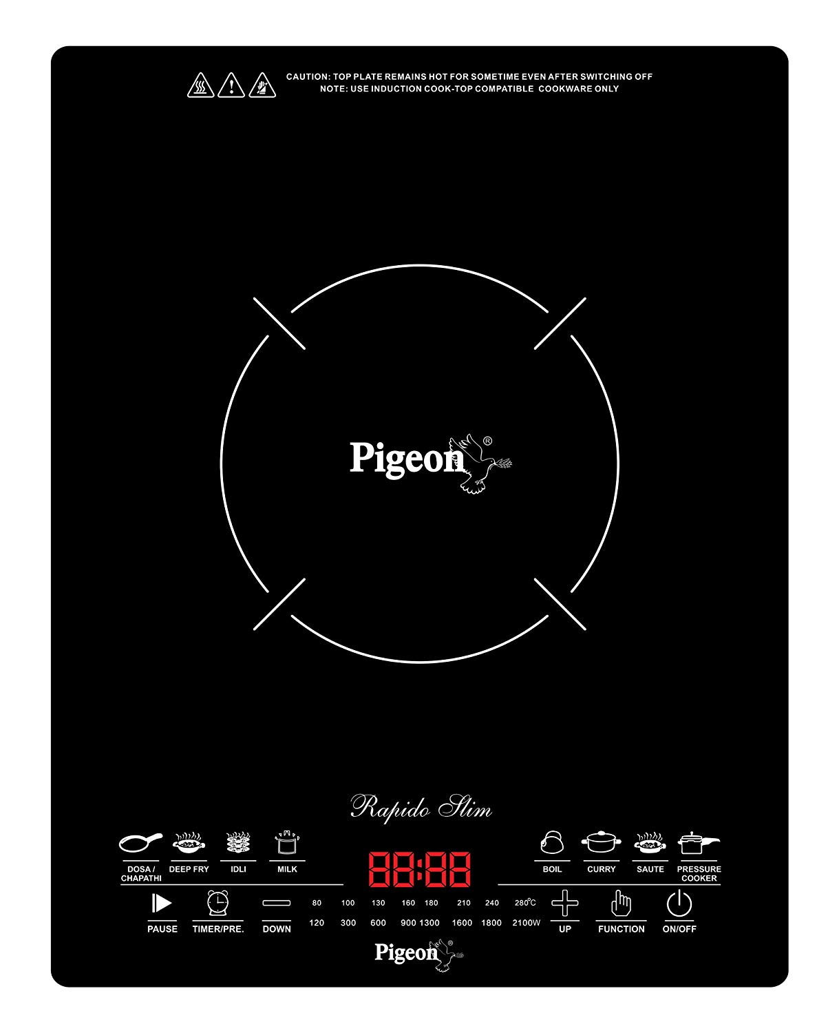 Pigeon by Stovekraft Rapido Slim Induction Cooktop